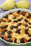 Dessert del grafico a torta della pera Fotografia Stock Libera da Diritti