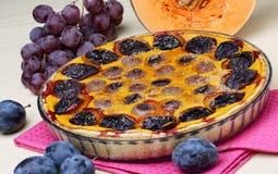 Dessert del grafico a torta di zucche Fotografia Stock