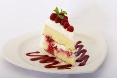 Dessert del lampone Fotografie Stock