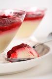 Dessert del lampone Fotografia Stock