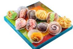 Dessert del Medio-Oriente Dolci arabi Henn? e Mimouna Cookies fotografia stock libera da diritti