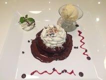 Dessert del pancake Immagini Stock