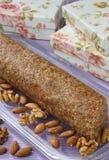 Dessert del rollè della frutta del fico Fotografia Stock