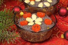 Dessert del seme di papavero fotografia stock