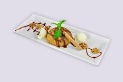 Dessert del semolino e gelato Immagine Stock Libera da Diritti