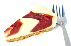 Dessert - Delicious cheesecake with berries sauce Stock Photography