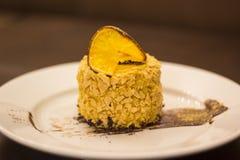 Dessert. Delicious lemon cake. Shallow depth of field Stock Photo