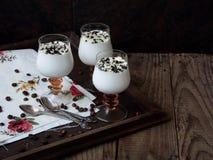 Dessert delizioso in un vetro Immagini Stock Libere da Diritti