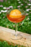 Dessert dell'arancia della gelatina Fotografia Stock