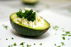 Dessert dell'avocado fotografie stock