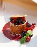 Dessert della bacca Fotografie Stock Libere da Diritti