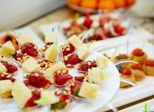 Dessert della bacca Fotografia Stock