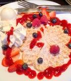 Dessert della cialda Fotografia Stock