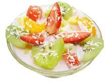 Dessert della fragola Immagini Stock