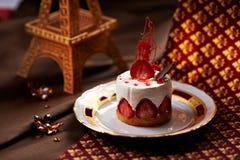 Dessert della fragola Immagine Stock