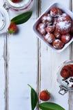 Dessert della fragola sulla tavola Immagine Stock Libera da Diritti