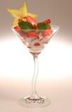 Dessert della frutta fresca Fotografia Stock