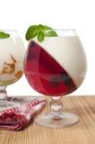 Dessert della gelatina Immagini Stock