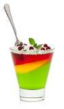 Dessert della gelatina Fotografia Stock
