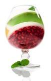 Dessert della gelatina con il melograno Fotografia Stock Libera da Diritti