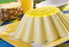 Dessert della gelatina dell'ananas Fotografia Stock