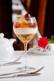 Dessert della gelatina di frutta Fotografia Stock