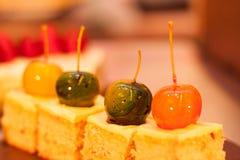 Dessert della mela di ciliegia Immagine Stock