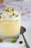 Dessert della mousse del mango Fotografie Stock
