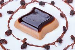 Dessert della panna cotta del caffè Immagini Stock