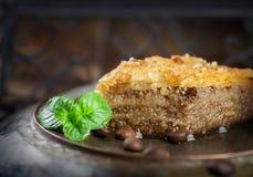 Dessert della pasticceria della baklava Fotografia Stock