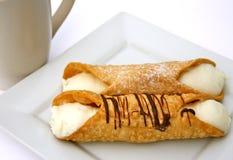 Dessert della pasticceria di Cannoli Fotografia Stock Libera da Diritti