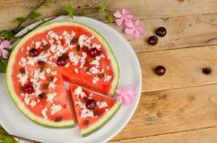 Dessert della pizza di Fuity Fotografia Stock