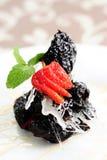 Dessert della prugna Immagine Stock