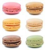 Dessert della raccolta dei biscotti dei maccheroni di Macarons dal isolat della Francia Fotografia Stock Libera da Diritti