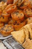 Dessert della Tailandia, farina della miscela, noce di cocco ed allora fritto Immagini Stock Libere da Diritti
