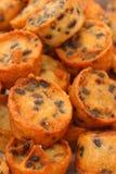 Dessert della Tailandia, farina della miscela, noce di cocco ed allora fritto Fotografie Stock