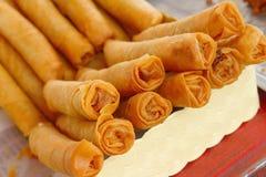 Dessert della Tailandia, farina della miscela, noce di cocco ed allora fritto Fotografia Stock