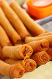 Dessert della Tailandia, farina della miscela, noce di cocco ed allora fritto Immagine Stock