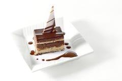 Dessert della torta di cioccolato Immagini Stock