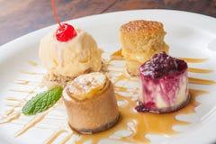 Dessert della torta di formaggio Immagini Stock