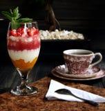 Dessert della torta di formaggio della fragola Fotografie Stock Libere da Diritti