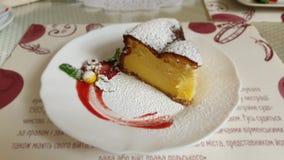 Dessert della torta di formaggio fotografia stock libera da diritti