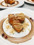 Dessert della zucca fotografie stock libere da diritti