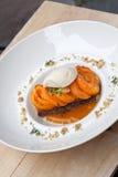 Dessert delle albicocche Fotografia Stock Libera da Diritti