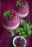 Dessert delle bacche Immagine Stock