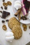 Dessert 12 di Bisquit Immagini Stock