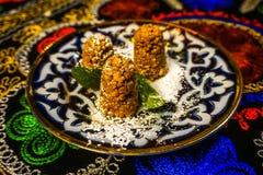Dessert di Chakchak dell'Uzbeco immagine stock