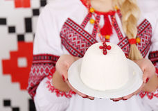 Dessert di Curd Easter Immagine Stock Libera da Diritti