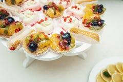 Dessert di frutta fresca in ciotola Fotografia Stock