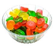 Dessert di gelatina in ciotola Fotografia Stock